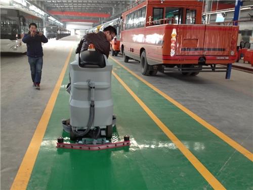 广西华奥汽车选择环壮洗地机给车间创造洁净的环境