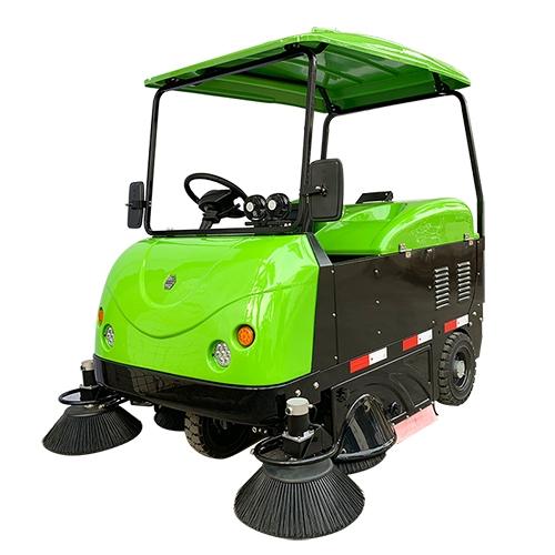 贺州黄瑶古镇选择我司扫地机清扫景区树叶、碎石、沙子、泥土