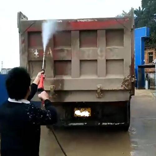 南宁清洗泥头车用大功率绿霸高压清洗机LT-20MC